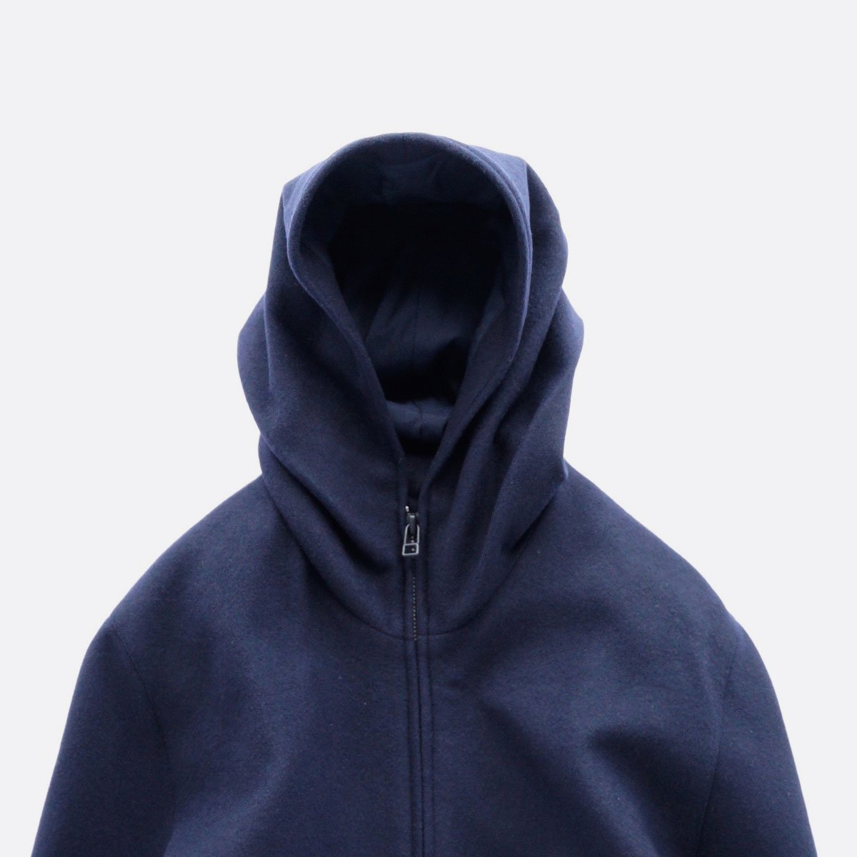 FIRMUM SUPER 100S WOOL LODEN LIKE CLOTH HOOD JACKET (NAVY)3