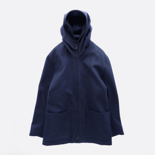 SUPER 100S WOOL LODEN LIKE CLOTH HOOD JACKET