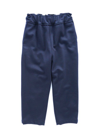 FIRMUM SUPER 100S WOOL LODEN LIKE CLOTH EASY PANTS (NAVY)