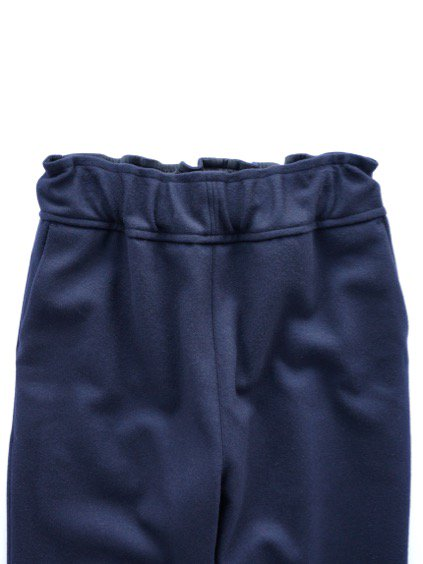 FIRMUM SUPER 100S WOOL LODEN LIKE CLOTH EASY PANTS (NAVY)2