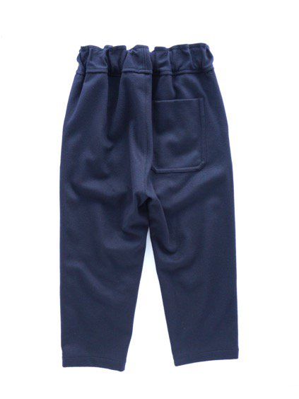 FIRMUM SUPER 100S WOOL LODEN LIKE CLOTH EASY PANTS (NAVY)4