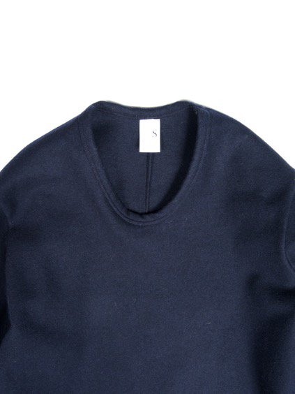 NO CONTROL AIR BABY LAMB WOOL INLAY KNIT MELTON CUTSEW (navy)2
