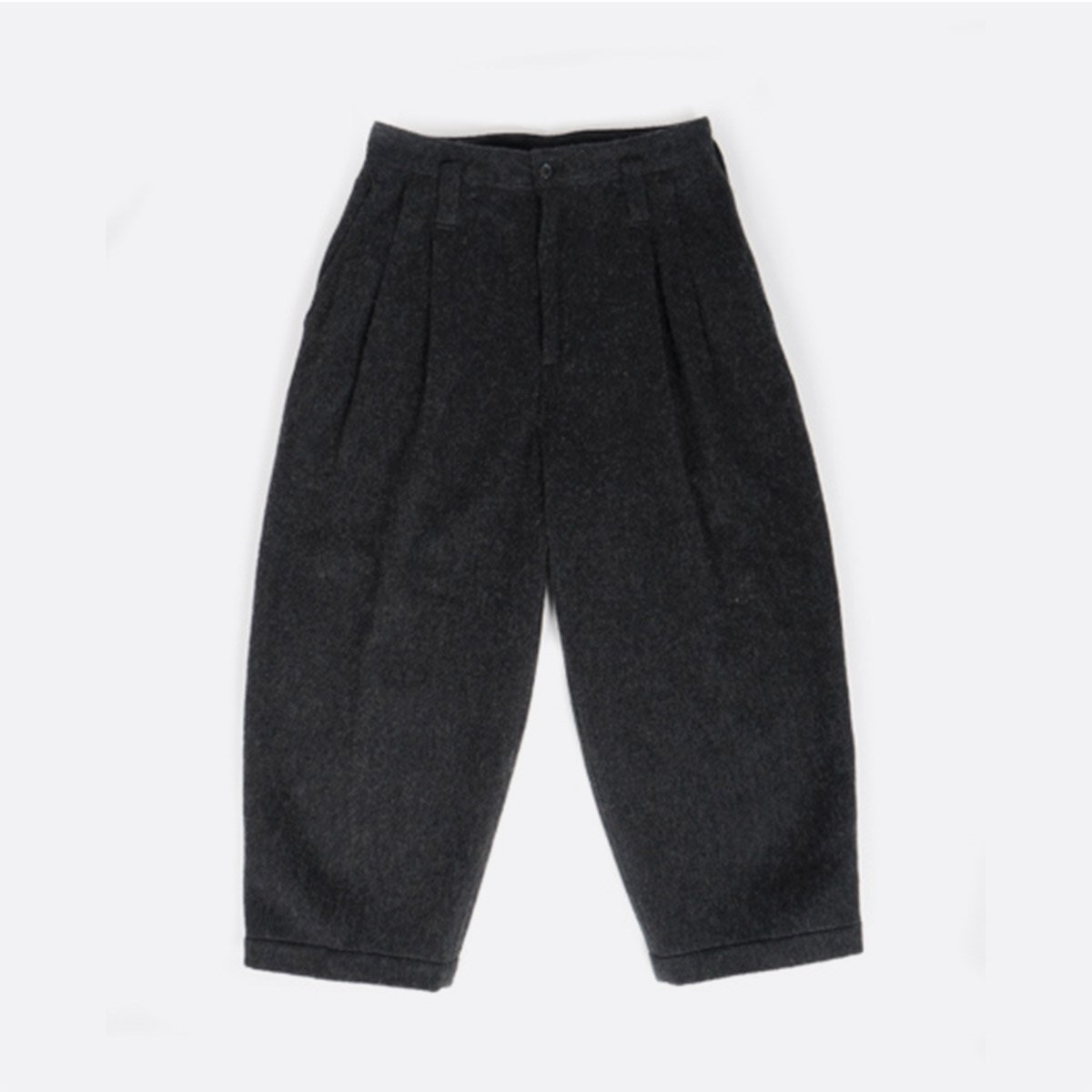 Porter Classic  WOOL & GAUZE WIDE PANTS  (BLACK)