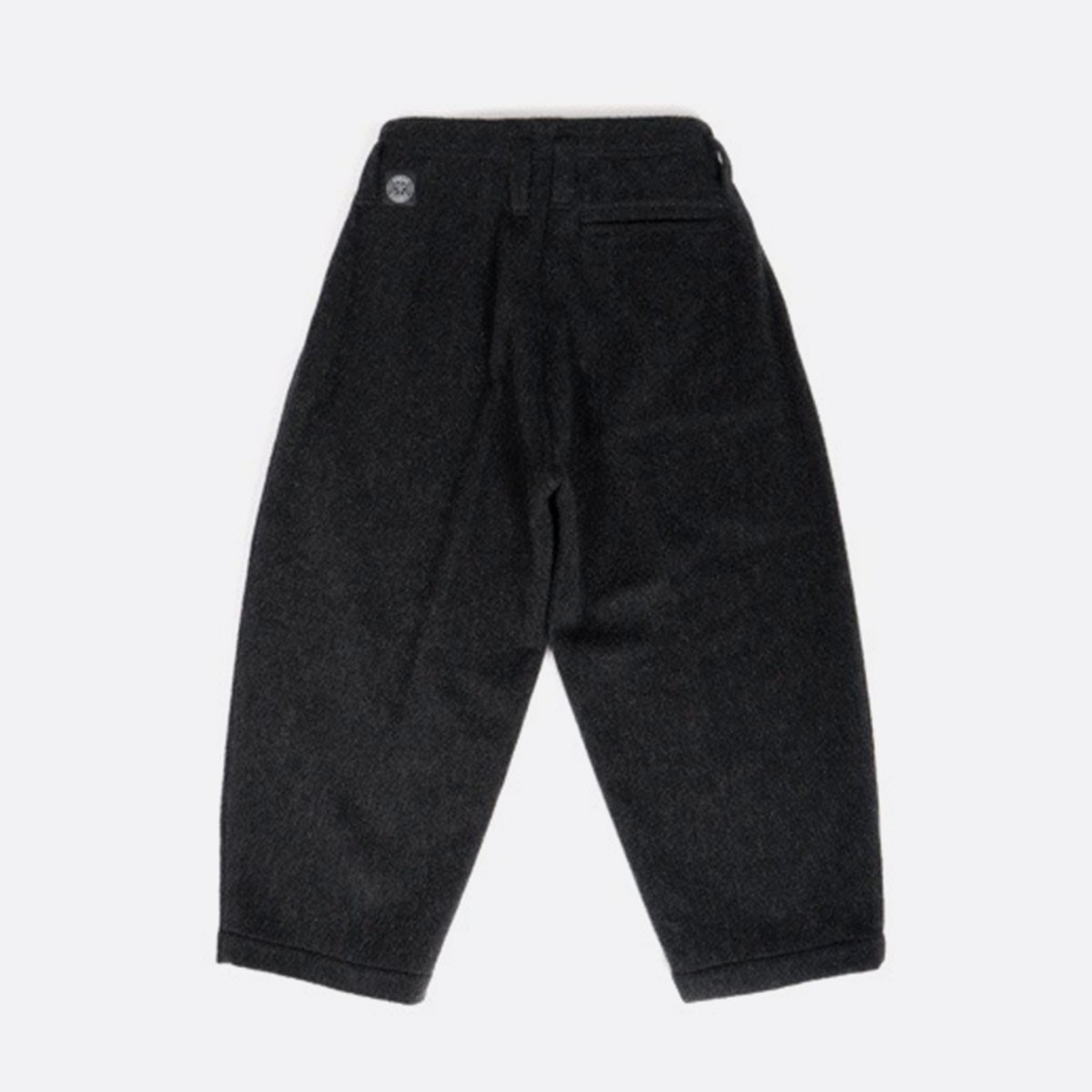 Porter Classic  WOOL & GAUZE WIDE PANTS  (BLACK)2