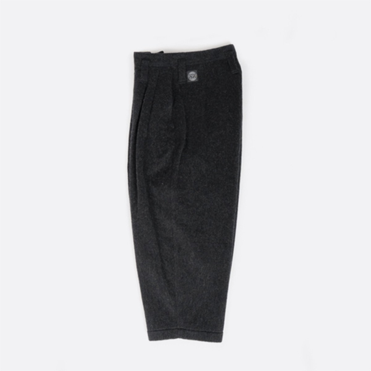 Porter Classic  WOOL & GAUZE WIDE PANTS  (BLACK)3