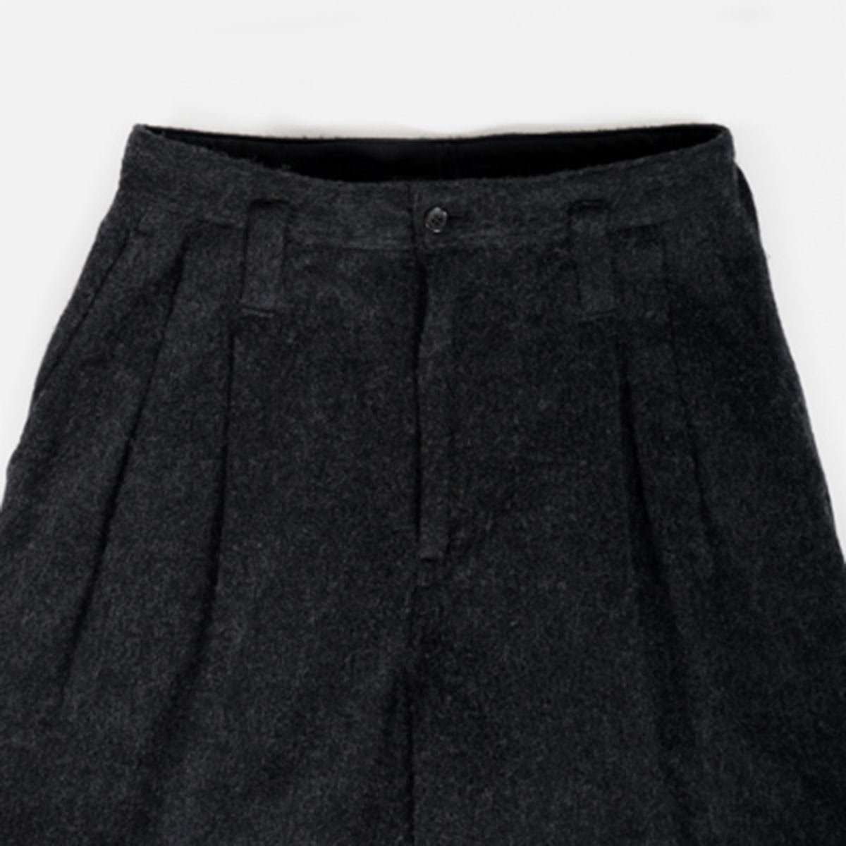 Porter Classic  WOOL & GAUZE WIDE PANTS  (BLACK)4