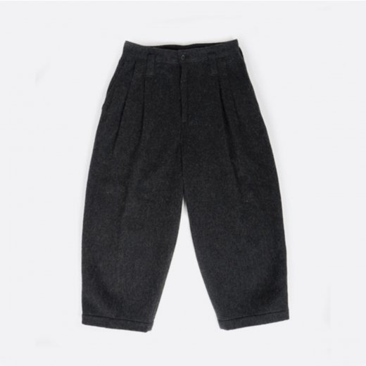 WOOL & GAUZE WIDE PANTS
