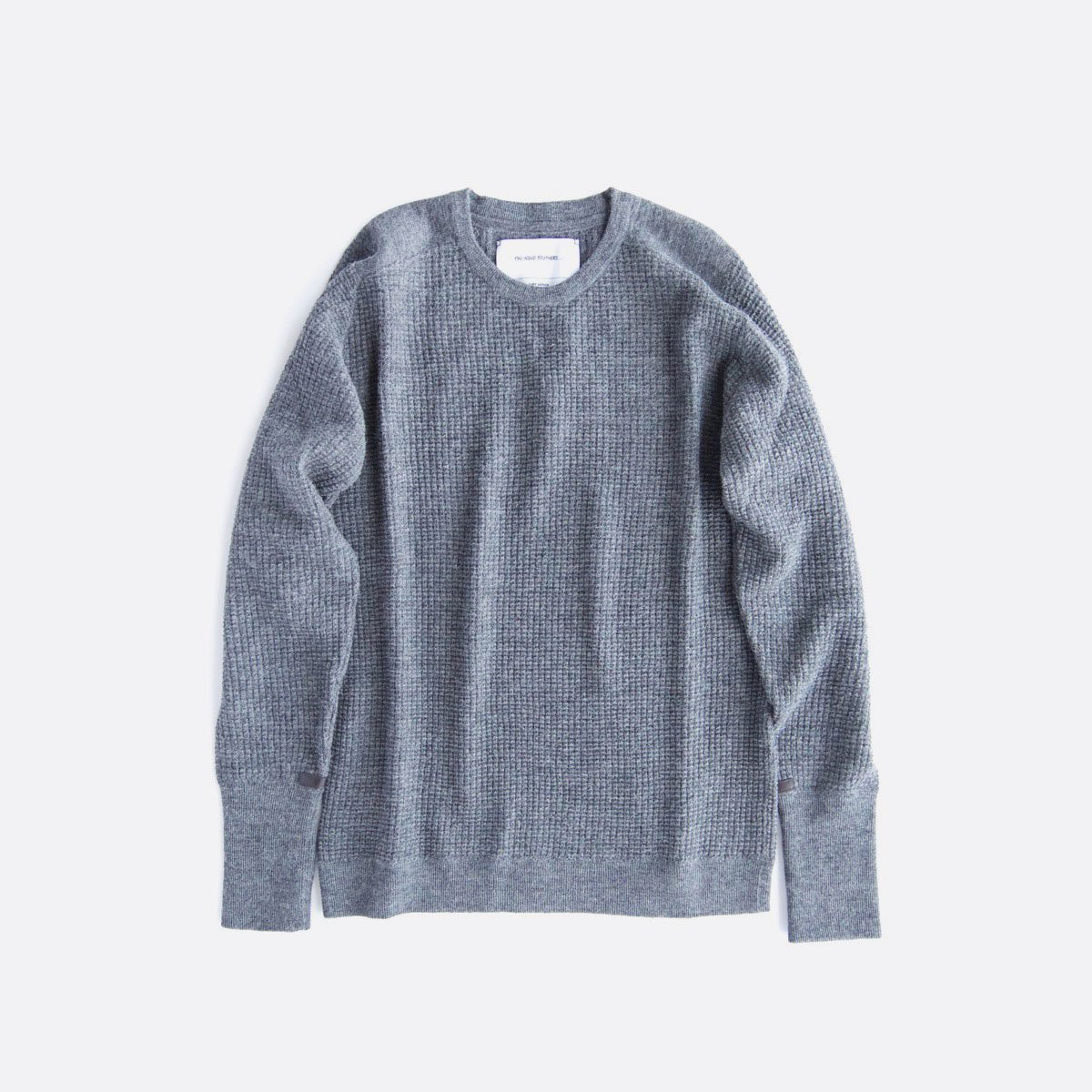 THE INOUE BROTHERS…  Thin Waffle Knit Pullover (Grey)