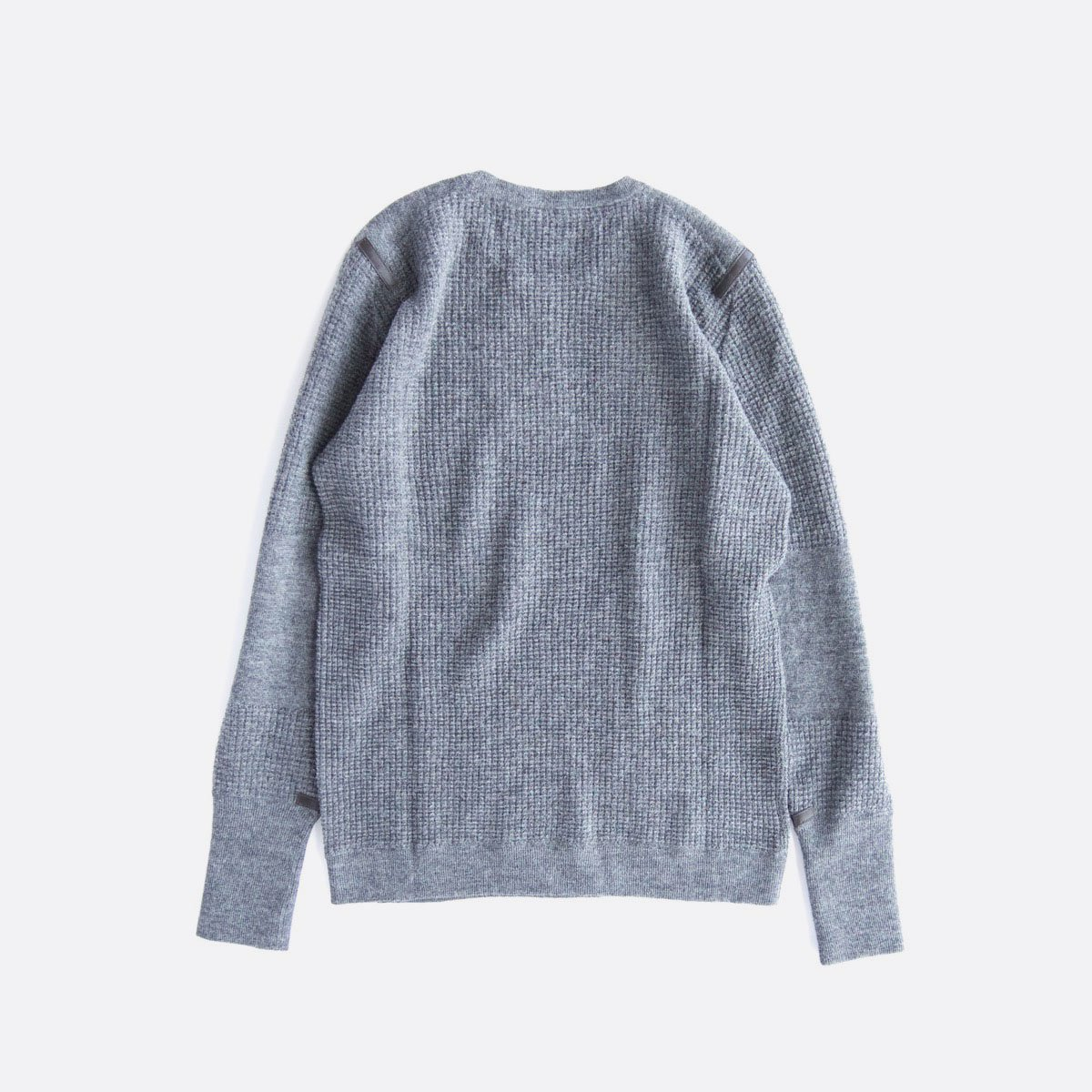 THE INOUE BROTHERS…  Thin Waffle Knit Pullover (Grey)2