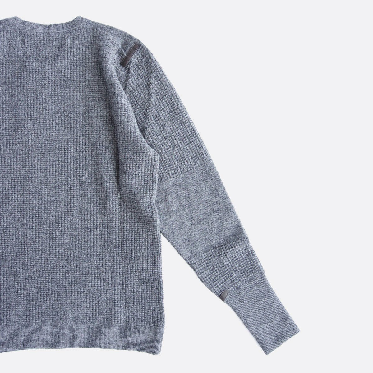 THE INOUE BROTHERS…  Thin Waffle Knit Pullover (Grey)4