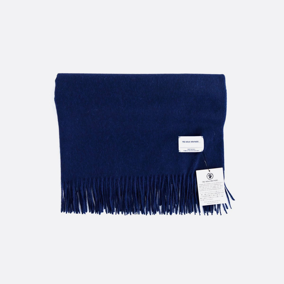 THE INOUE BROTHERS…  Large Brushed Stole (Navy)