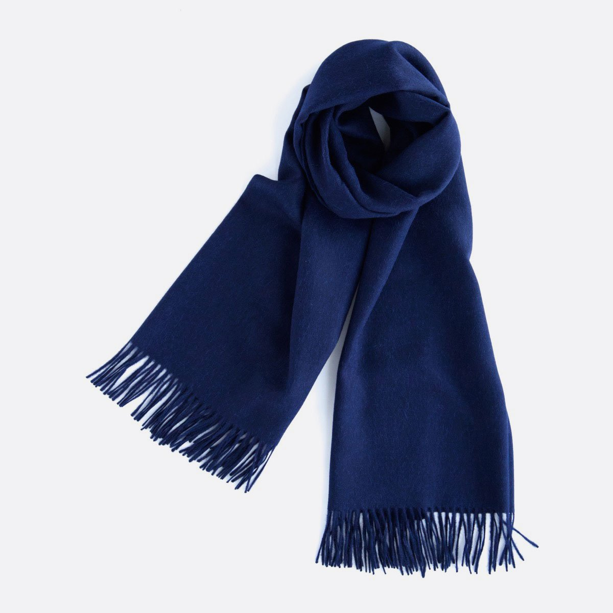THE INOUE BROTHERS…  Large Brushed Stole (Navy)2