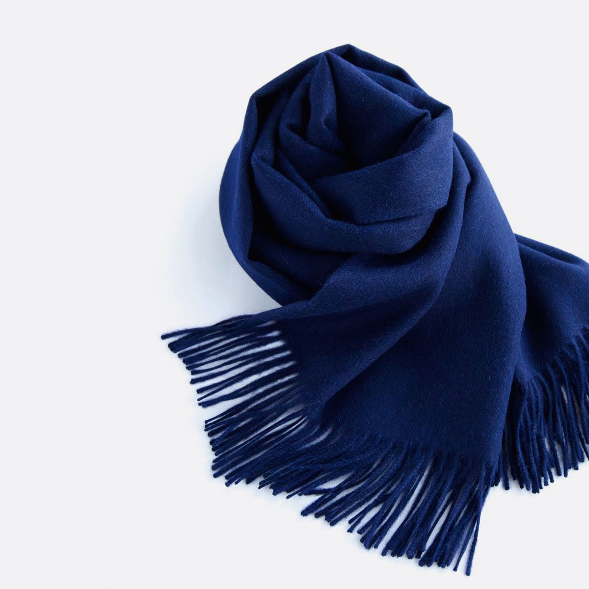 THE INOUE BROTHERS…  Large Brushed Stole (Navy)3