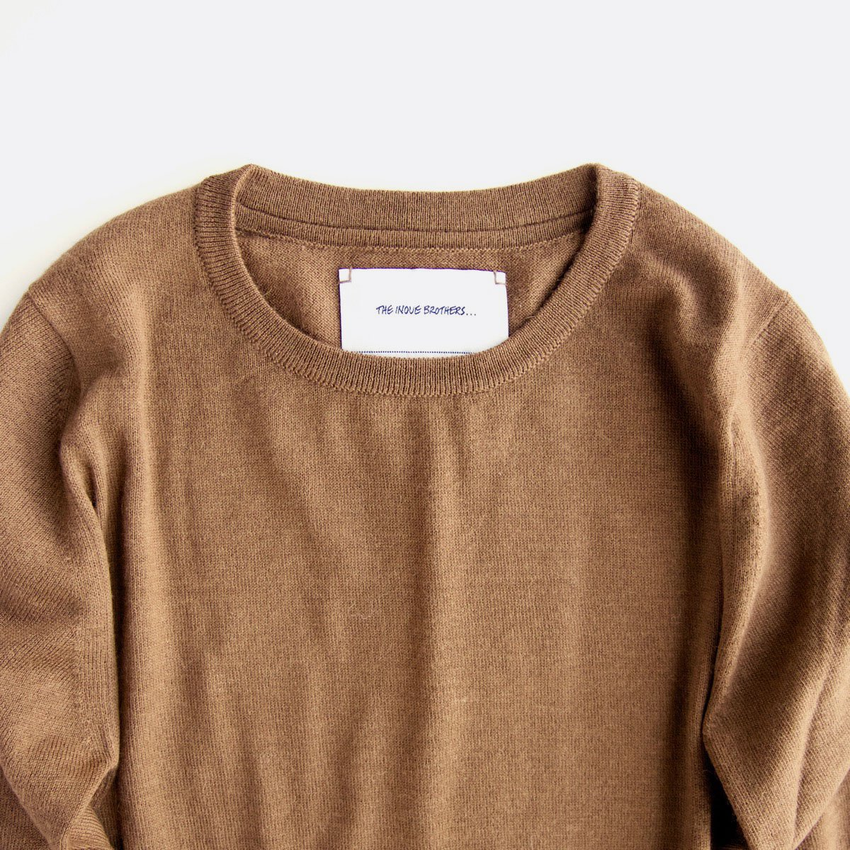 THE INOUE BROTHERS…  Crew Neck Pullover (Camel)3