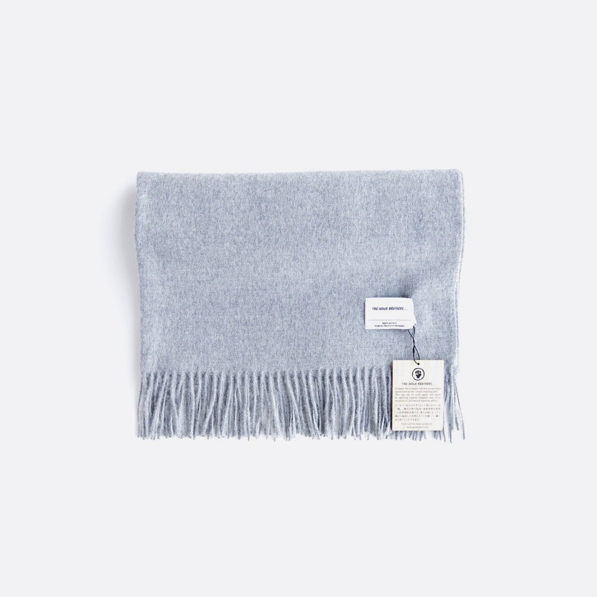 THE INOUE BROTHERS…  Large Brushed Stole (Light Grey)