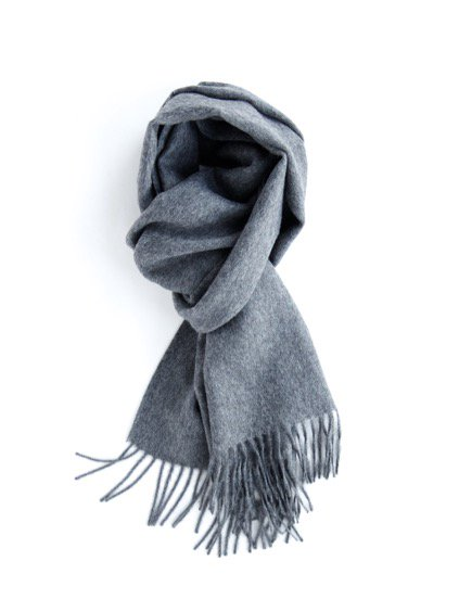 THE INOUE BROTHERS…  Brushed Scarf (Grey)3
