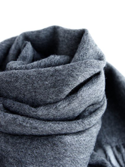 THE INOUE BROTHERS…  Brushed Scarf (Grey)4