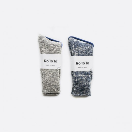 LOW GAUGE SLUB CREW SOCKS  M