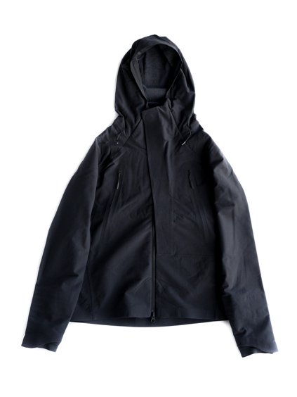 DESCENTE ALLTERRAIN   STRETCH HOODED FLEECE JACKET (BLACK)1