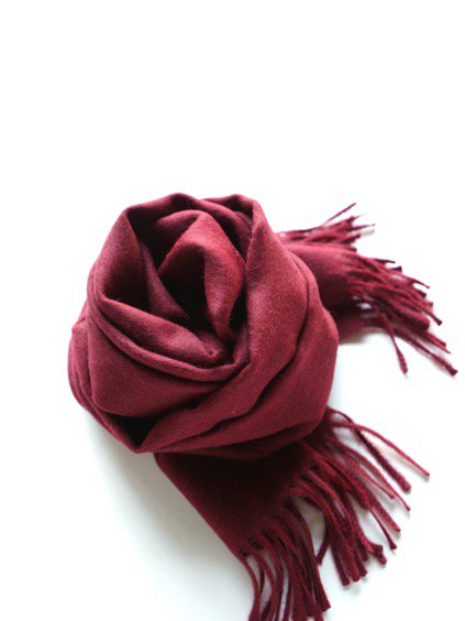 THE INOUE BROTHERS…  Brushed Scarf (Burgundy)2