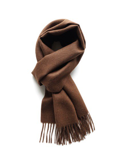 THE INOUE BROTHERS…  Brushed Scarf (Brown)2