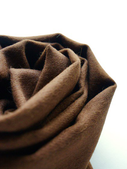 THE INOUE BROTHERS…  Brushed Scarf (Brown)3