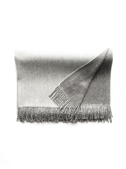 THE INOUE BROTHERS…  Double Faced Brushed Stole (Grey)