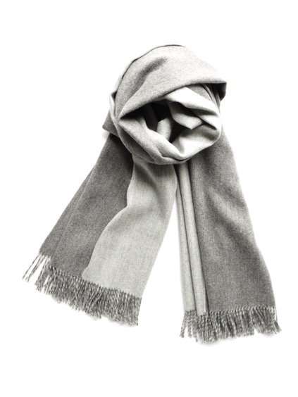 THE INOUE BROTHERS…  Double Faced Brushed Stole (Grey)2