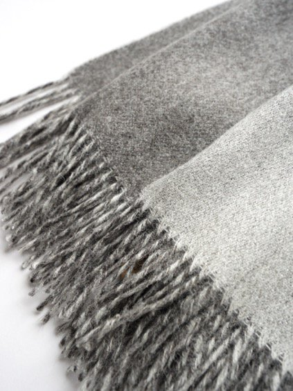 THE INOUE BROTHERS…  Double Faced Brushed Stole (Grey)3