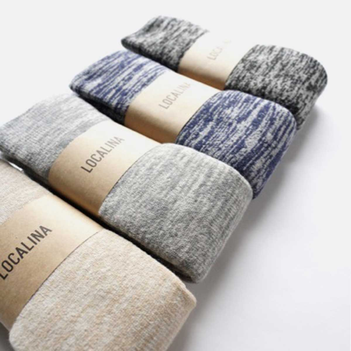 LOCALINA LONG TUBE SOCKS MIX (BEIGE)(GREY)(BLUE)(CHARCOAL)2