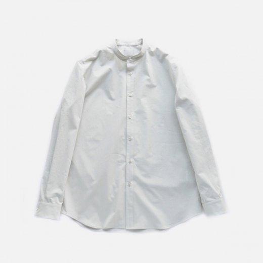 カシミアタッチ・スーピマコットンシャツ スタンドカラー
