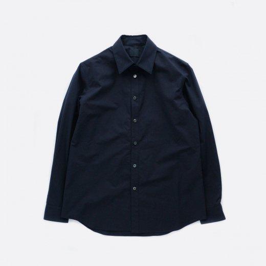カシミアタッチ・スーピマコットンシャツ 羽襟付き