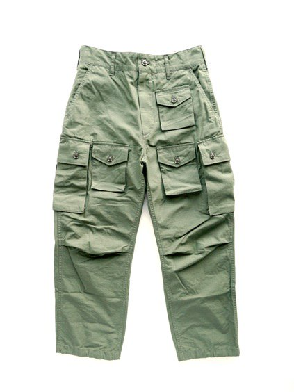Engineered Garments  FA PANT - COTTON RIPSTOP  (Olive)