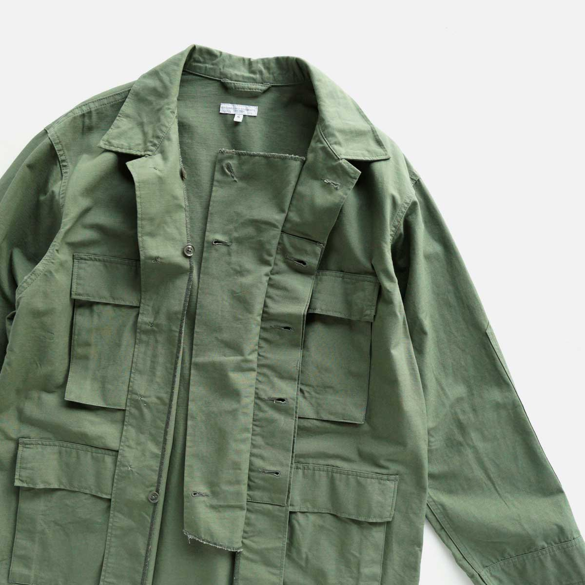 Engineered Garments  BDU JACKET - COTTON RIPSTOP (OLIVE)4