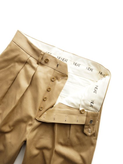 NEAT COTTON PIQUE WIDE  (BEIGE)3