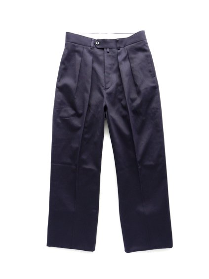 NEAT COTTON PIQUE WIDE  (NAVY)