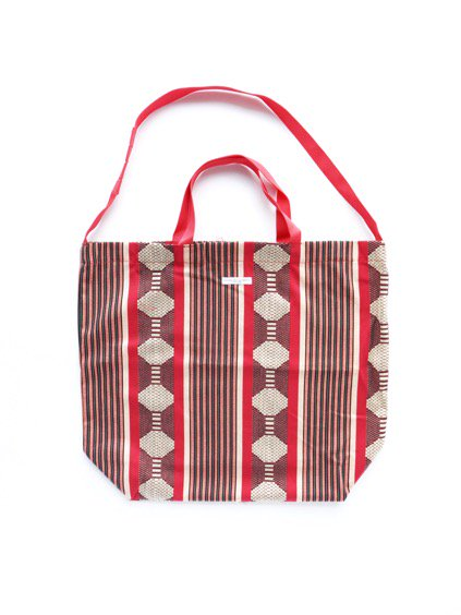 Engineered Garments Carry All Tote -Ethnic Jacquard St. (RED)