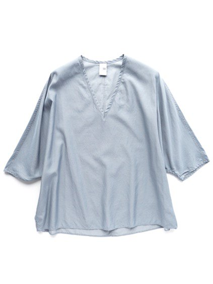 NO CONTROL AIR CUPRO & COTTON FIBRILS KARSEY PULLOVER SHIRT (smoke blue)
