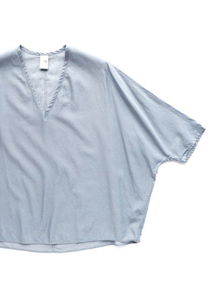 NO CONTROL AIR CUPRO & COTTON FIBRILS KARSEY PULLOVER SHIRT (smoke blue)4