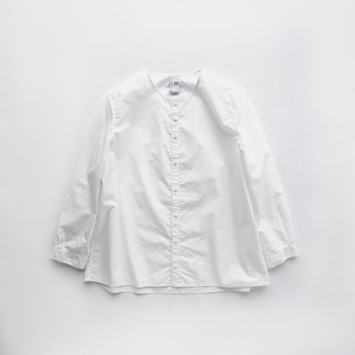 NO CONTROL AIR 60/1 SUPIMA COTTON TYPEWRITER NO COLLAR SHIRT (off white)