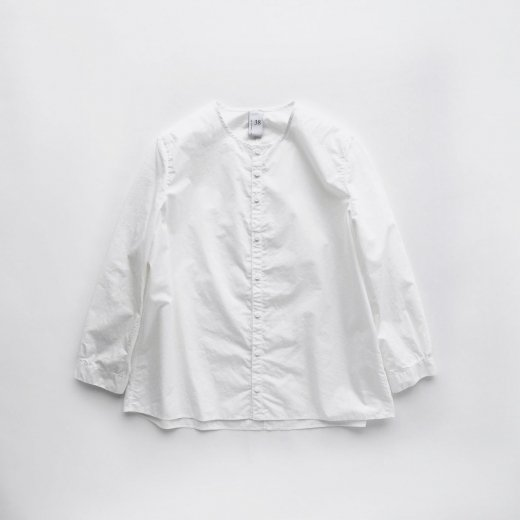 60/1 SUPIMA COTTON TYPEWRITER NO COLLAR SHIRT