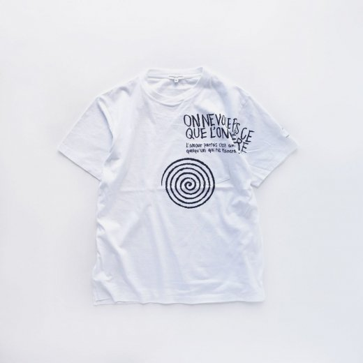 PRINTED CROSS CREW NECK T-SHIRT - SPIRAL