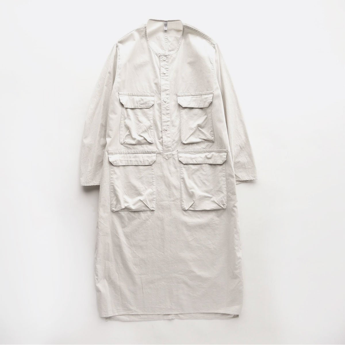 FIRMUM 20s ROUGH COTTON SHEETING PULL OVER  (frosty white)1