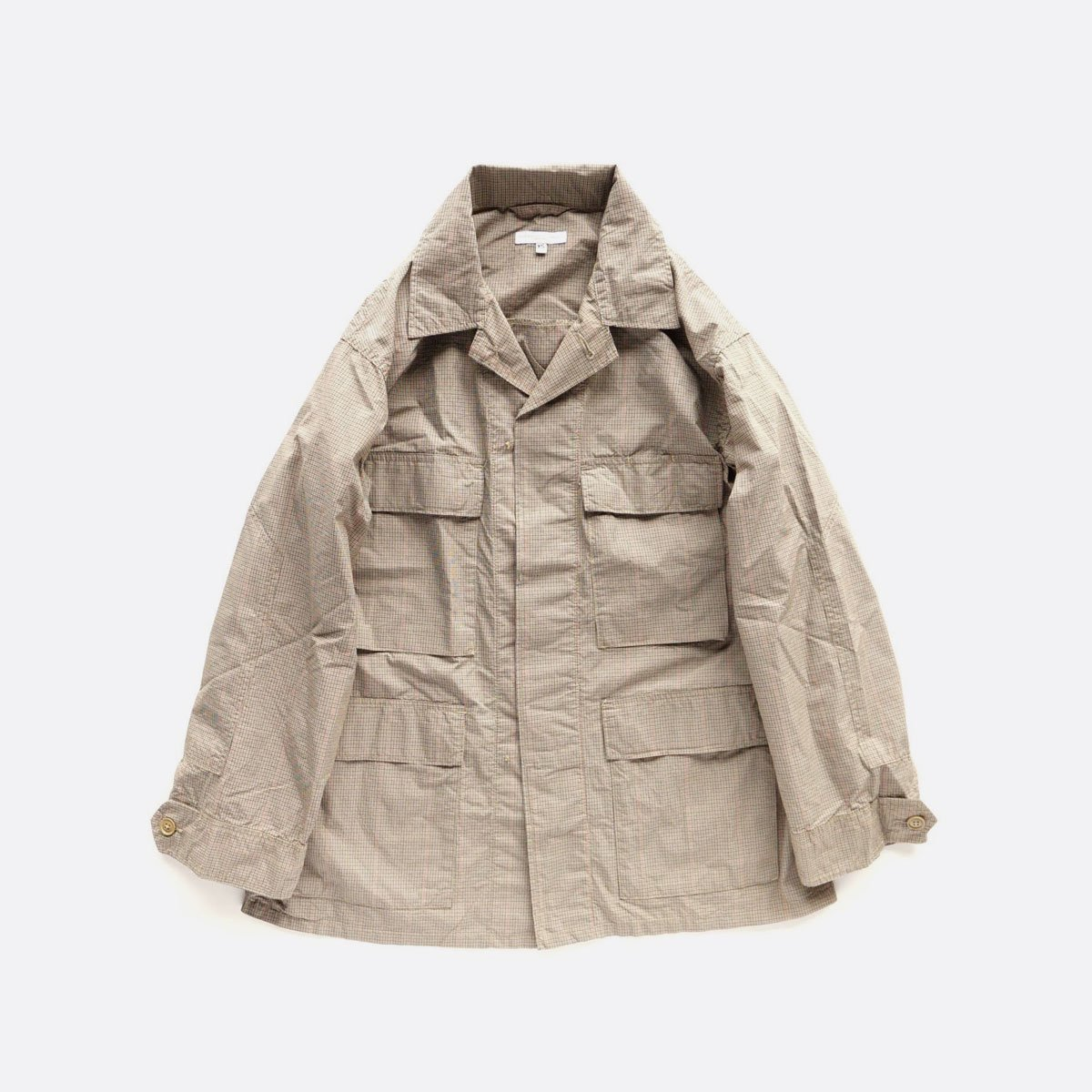 Engineered Garments  BDU JACKET - Nyco Mini Tattersall (Khaki)1