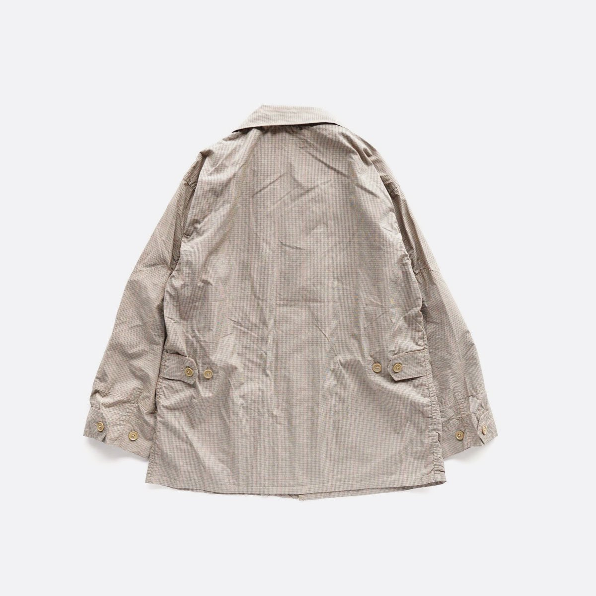 Engineered Garments  BDU JACKET - Nyco Mini Tattersall (Khaki)2