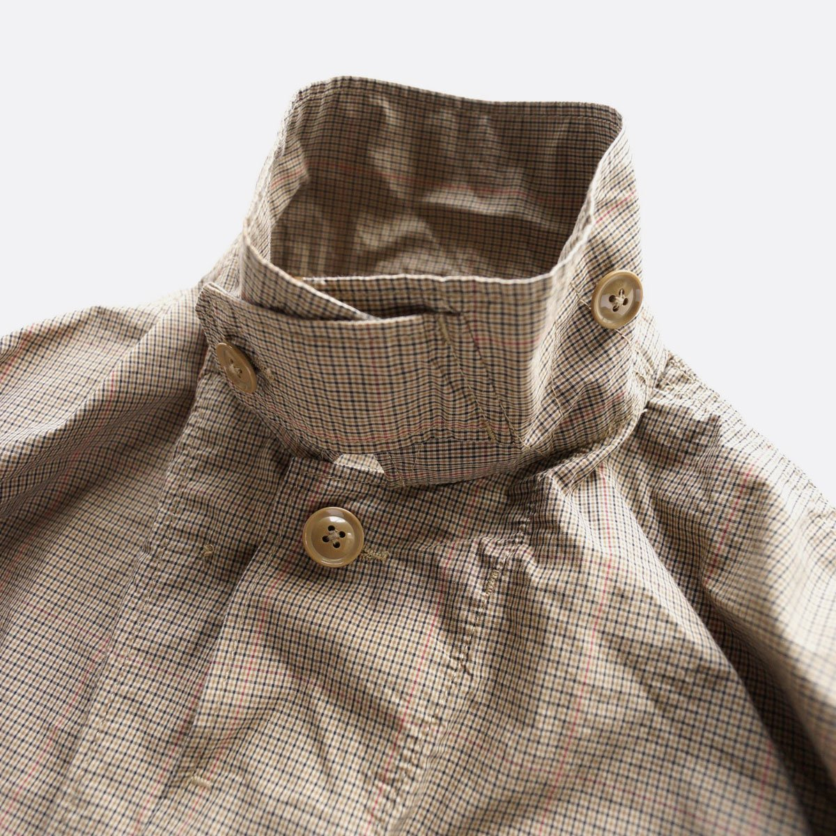 Engineered Garments  BDU JACKET - Nyco Mini Tattersall (Khaki)4