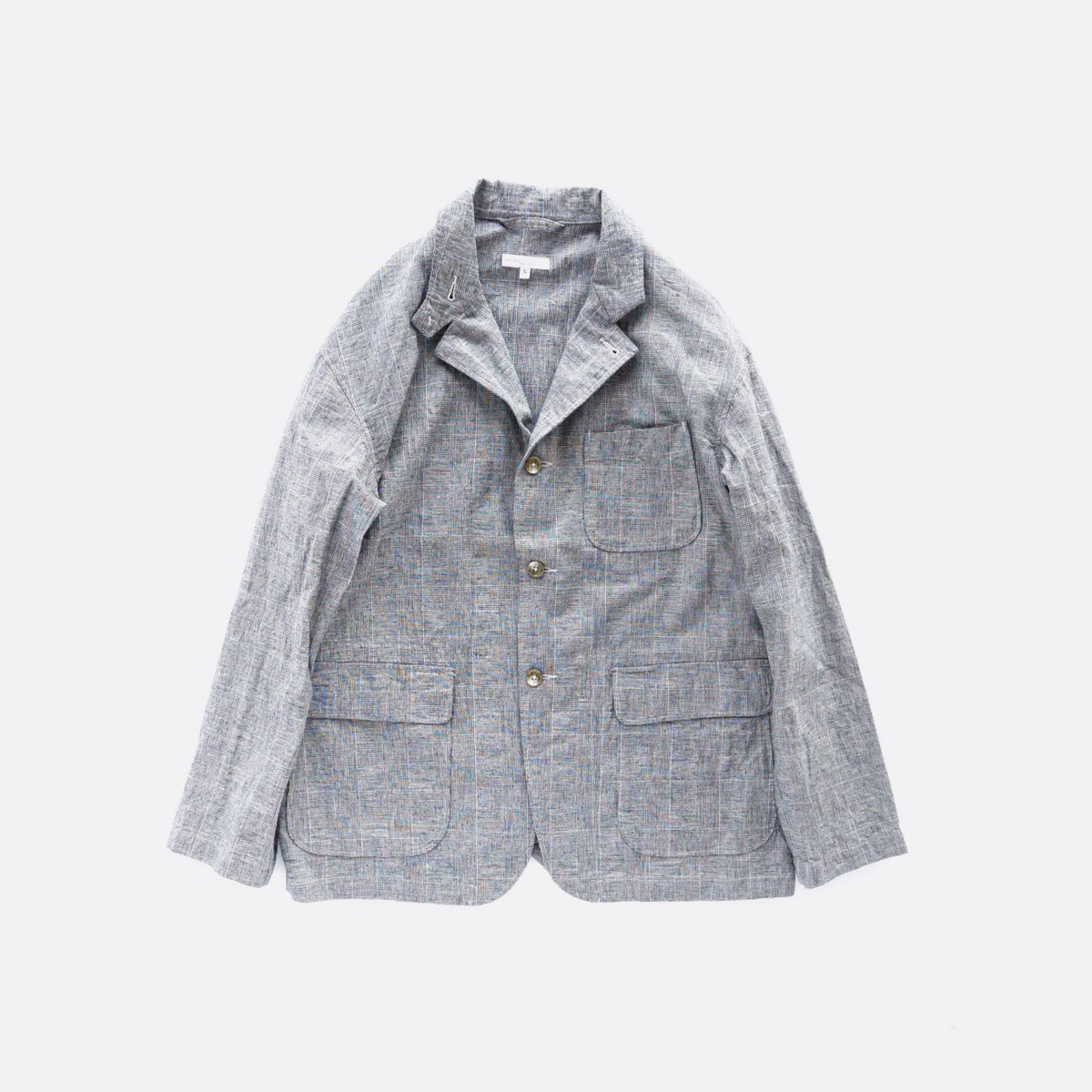 Engineered Garments Loiter Jacket - CL Glen Plaid  (Grey)
