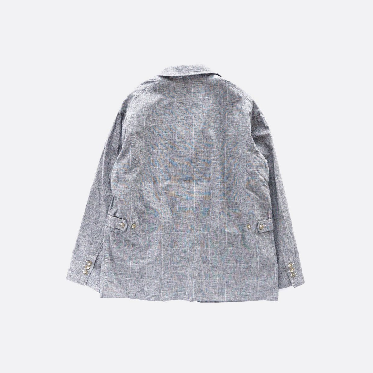 Engineered Garments Loiter Jacket - CL Glen Plaid  (Grey)2