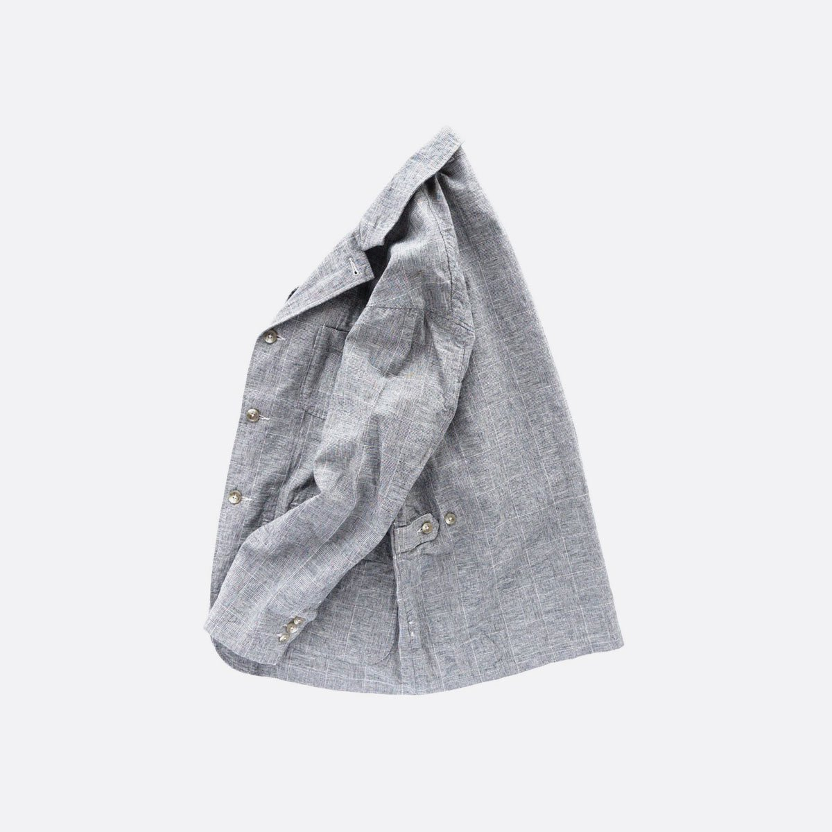 Engineered Garments Loiter Jacket - CL Glen Plaid  (Grey)3
