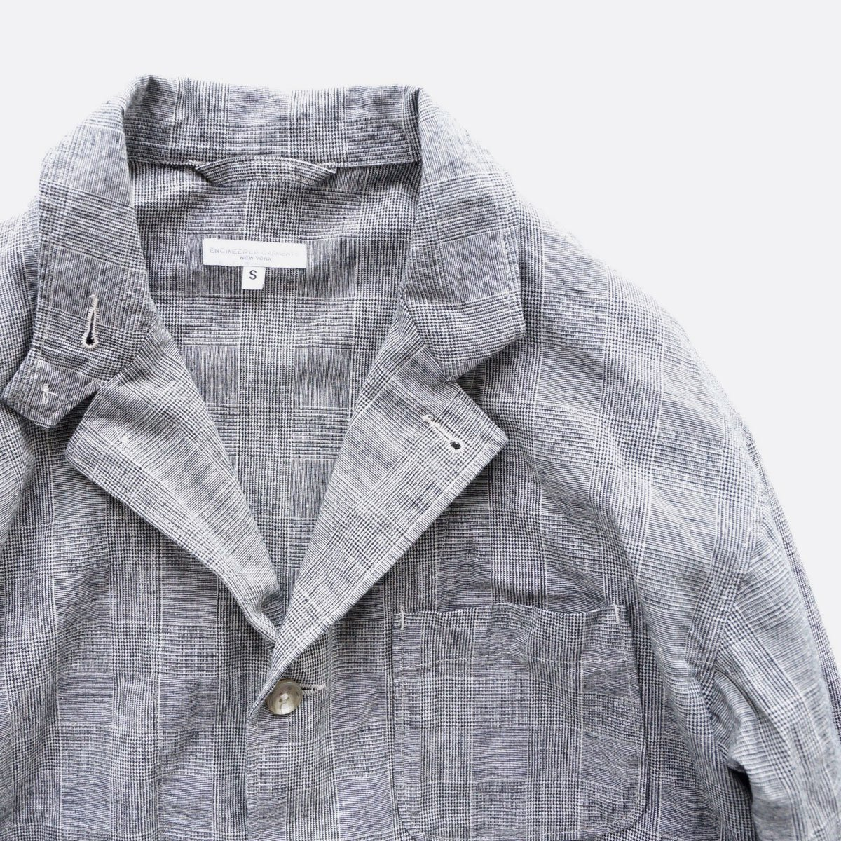 Engineered Garments Loiter Jacket - CL Glen Plaid  (Grey)4
